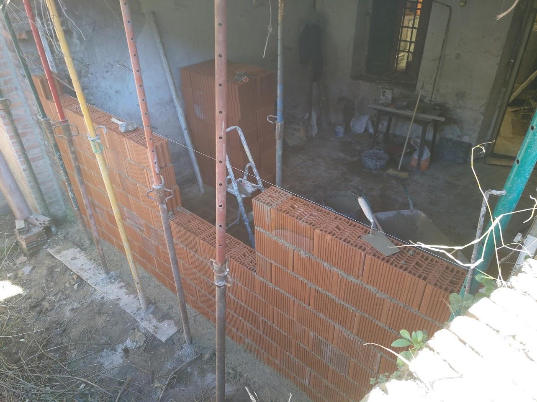 Muro interior de ladrillo