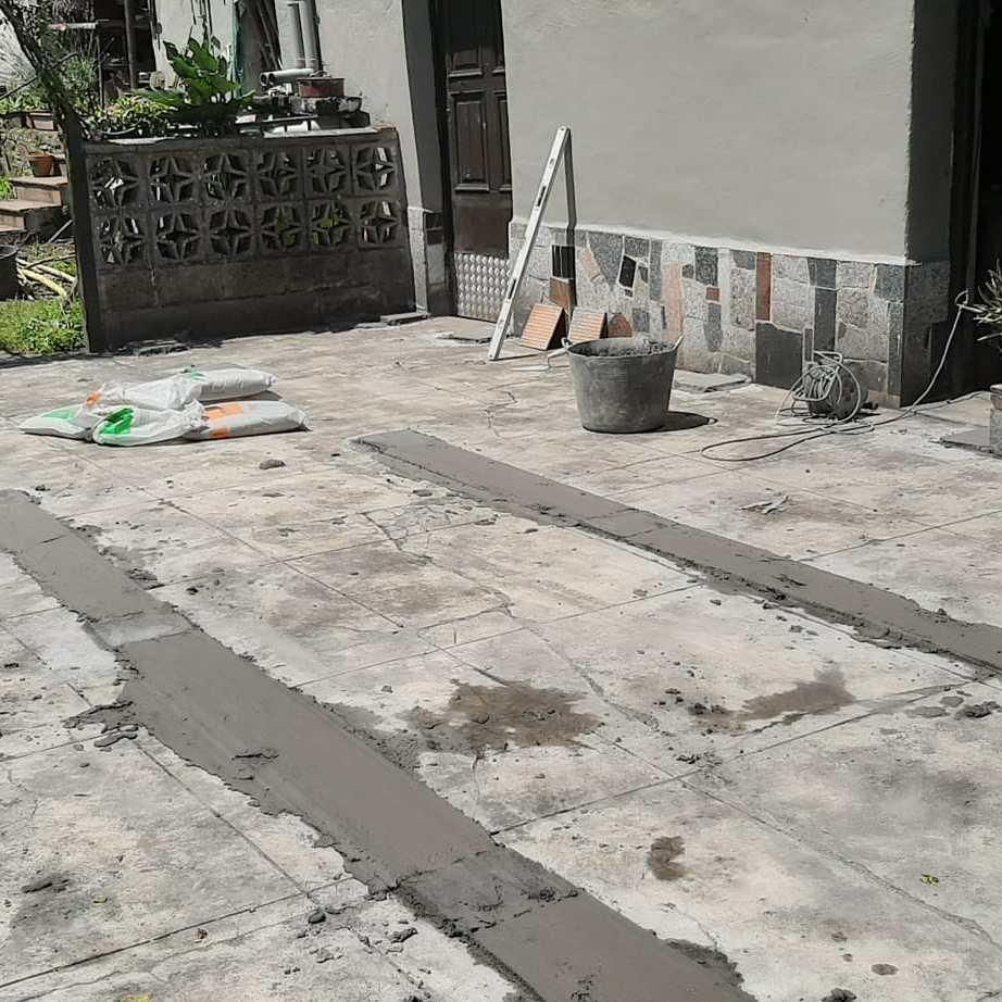 Instalación de terraza (antes)